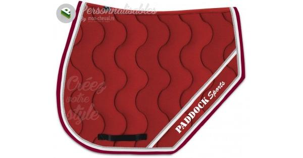 Tapis de selle Sports personnalisable avec broderie Paddock Sports