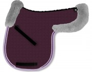 Contoured Saddle Pad With Lambskin Panels