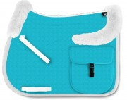 Trail Riding Saddle Pad with Lambskin Panels