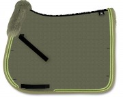 MER-SYSTEM Square Saddle Pad With Lambskin Panels