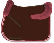 Square Saddle Pad with Lambskin Panels