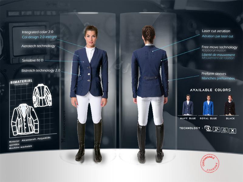 Caractéristiques veste aérotech femme Horse Pilot